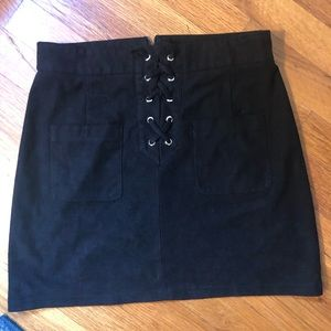 Boohoo (P) faux suede skirt